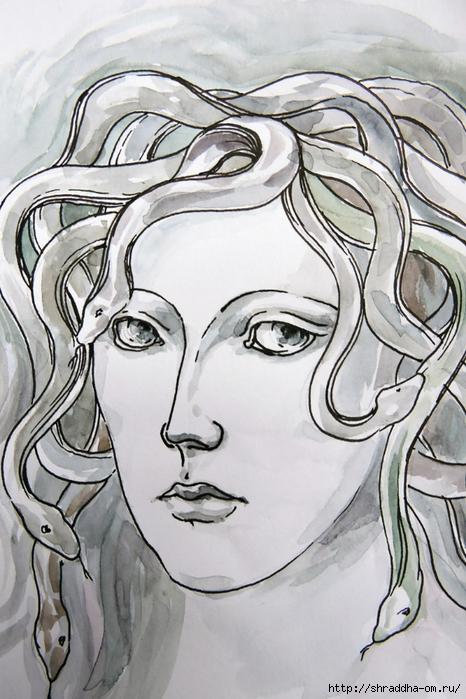 Медуза Горгона от Shraddha (3) (466x700, 282Kb)