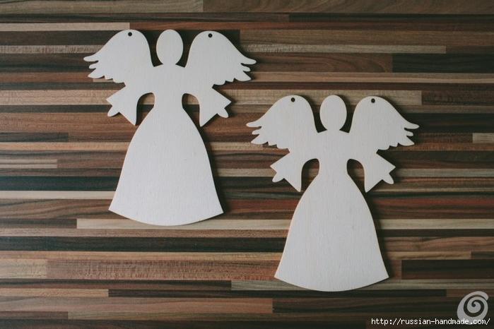 Рождественские ангелы - подвески из картона (2) (700x466, 220Kb)