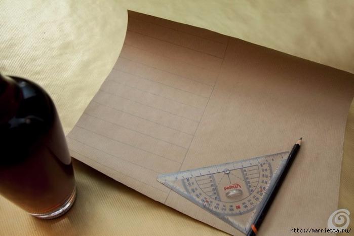 Подарочная упаковка из бумаги для бутылки спиртного (4) (700x466, 176Kb)