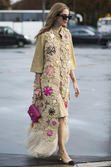 Chiara Ferragni rocked them around Paris Fashion Week with a boho-inspired (465x700, 286Kb)