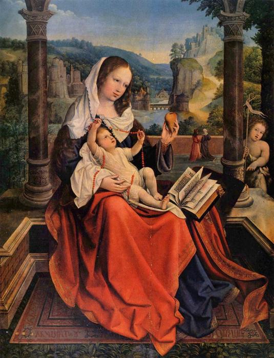 Bernaert van Orley - Virgin and Child (535x700, 479Kb)