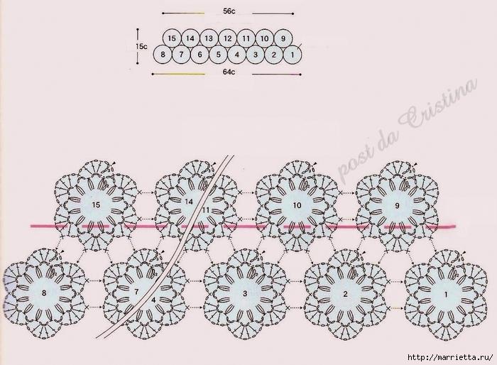 Теплый воротничок крючком. Схема (3) (700x514, 273Kb)