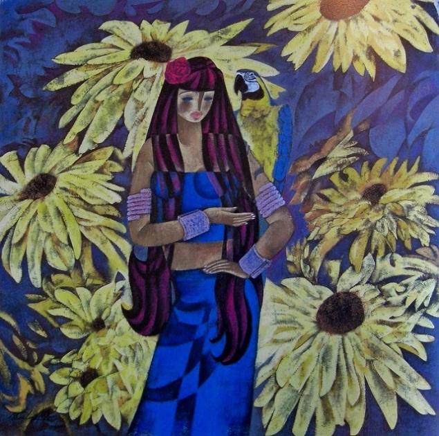 Желтые цветы (635x630, 478Kb)