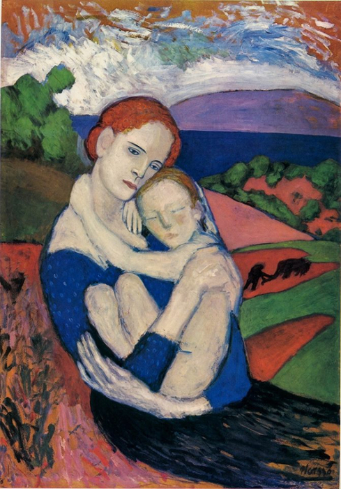Mother and Child (1901) Pablo PICASSO (489x700, 420Kb)