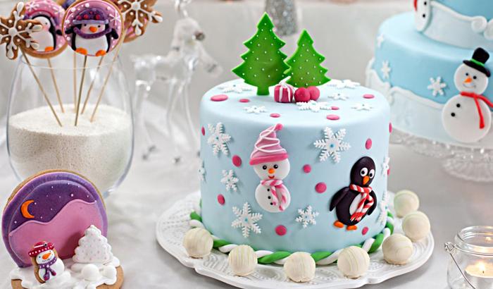Рождественские тортики (25 фото)