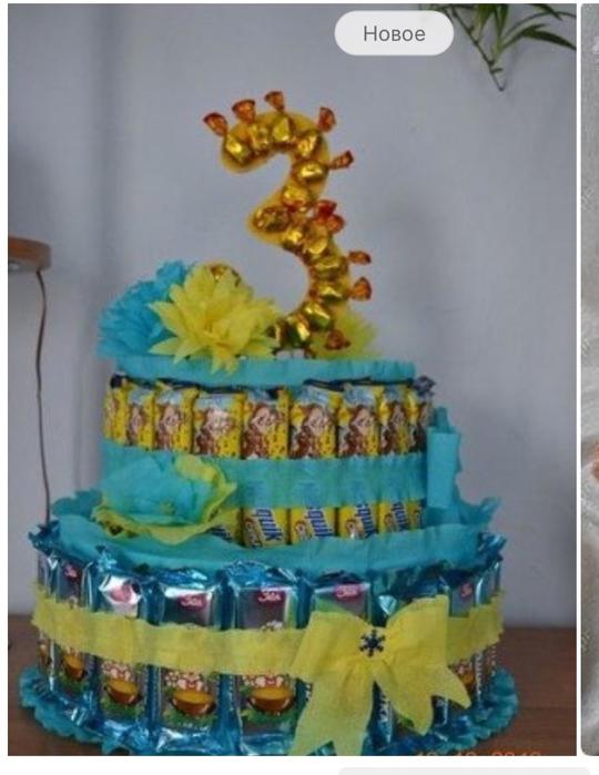 Как сделать торт из сладостей в детский сад