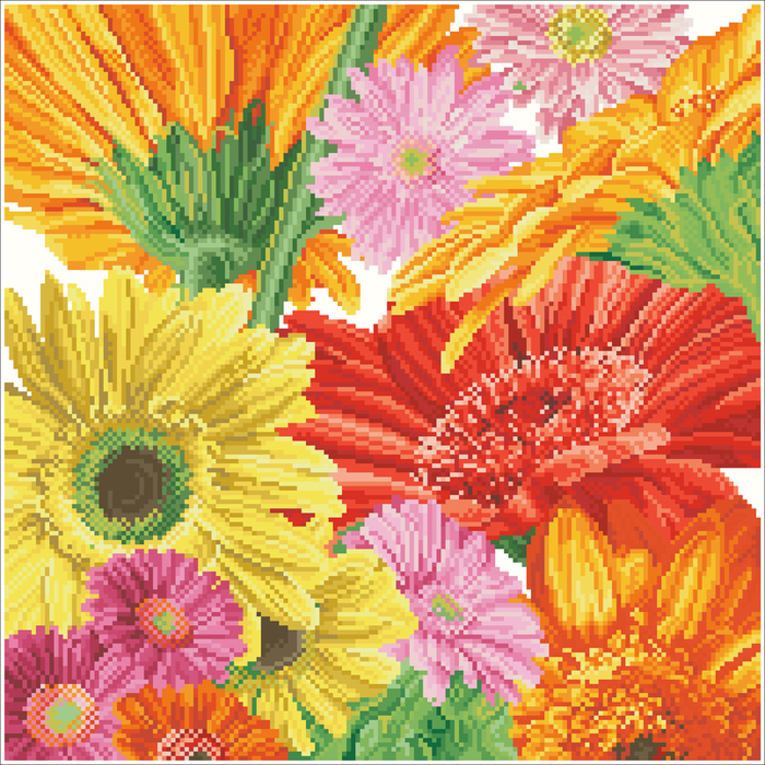 Gerbera_Daisies_Pillow (700x700, 537Kb)