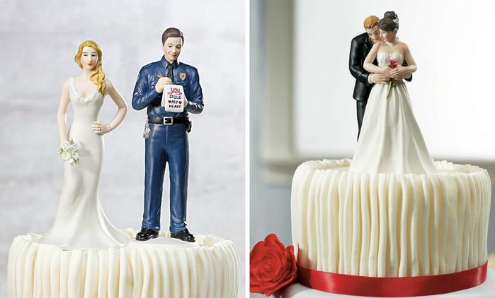Романтичные фигурки для свадебных тортов (16 фото)
