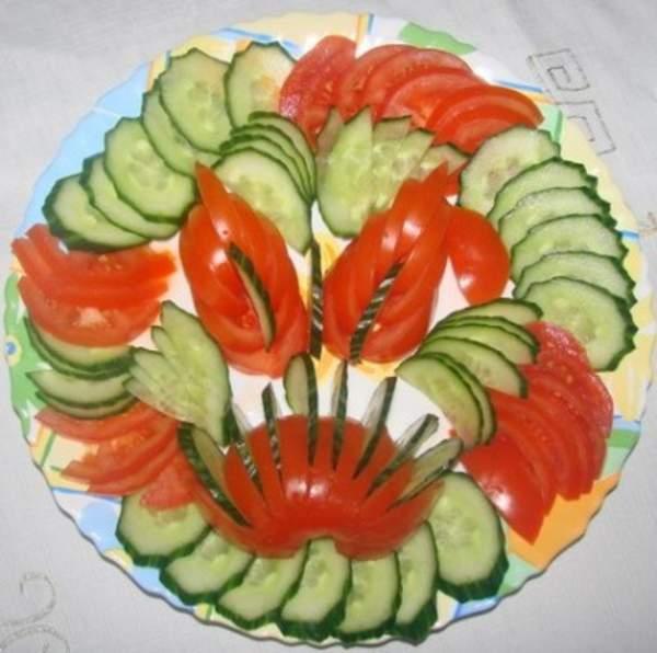 Простая нарезка овощей и фруктов своими руками фото