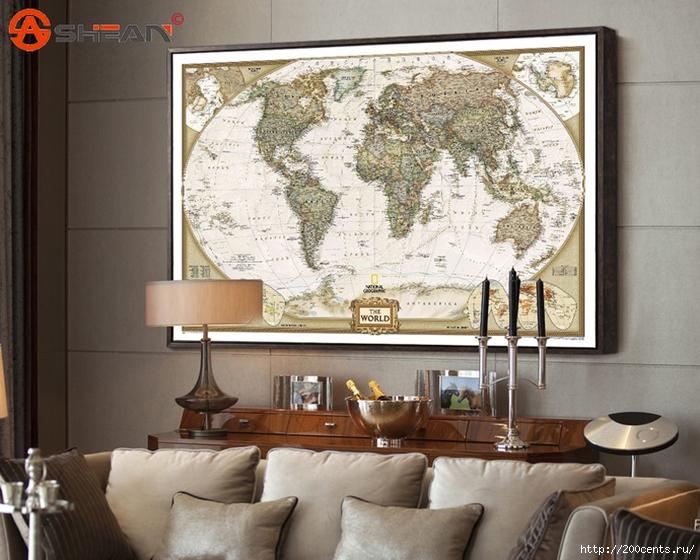 Vintage Retro Matte Kraft Paper World Map Antique Poster Wall Sticker Home Decora 72.5*47.5CM/5863438_VintageRetroMatteKraftPaperWorldMapAntiquePosterWallStickerHomeDecora725473 (700x560, 308Kb)