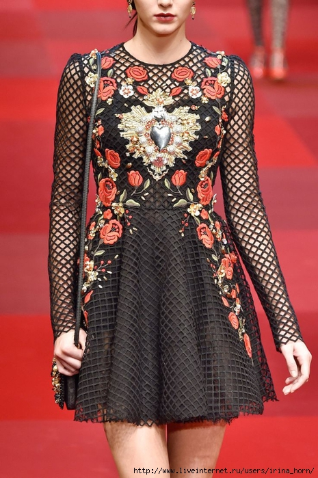 olce & Gabbana at Milan Fashion Week Spring 2015 (465x700, 292Kb)