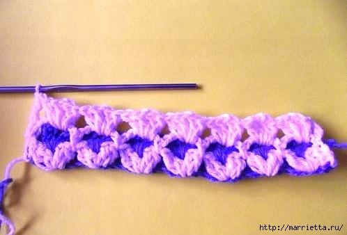 钩针教程:漂亮的双色毯子 - maomao - 我随心动