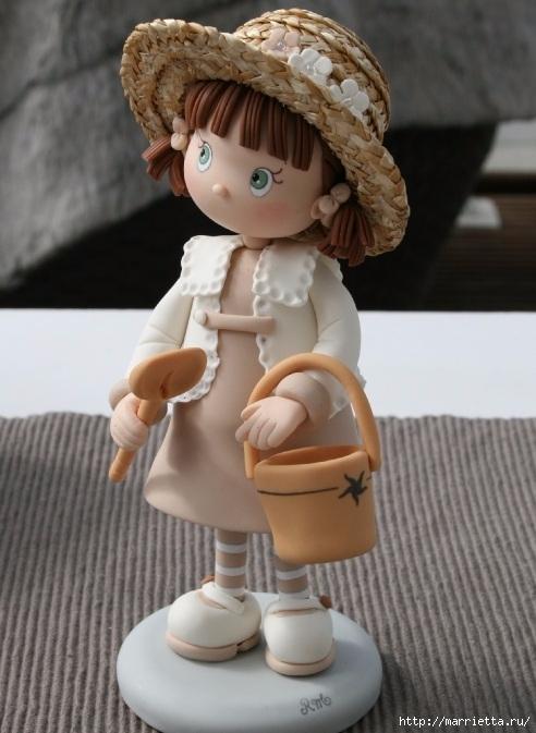 Лепка из полимерной глины. Красивые работы детской тематики (2) (492x673, 174Kb)