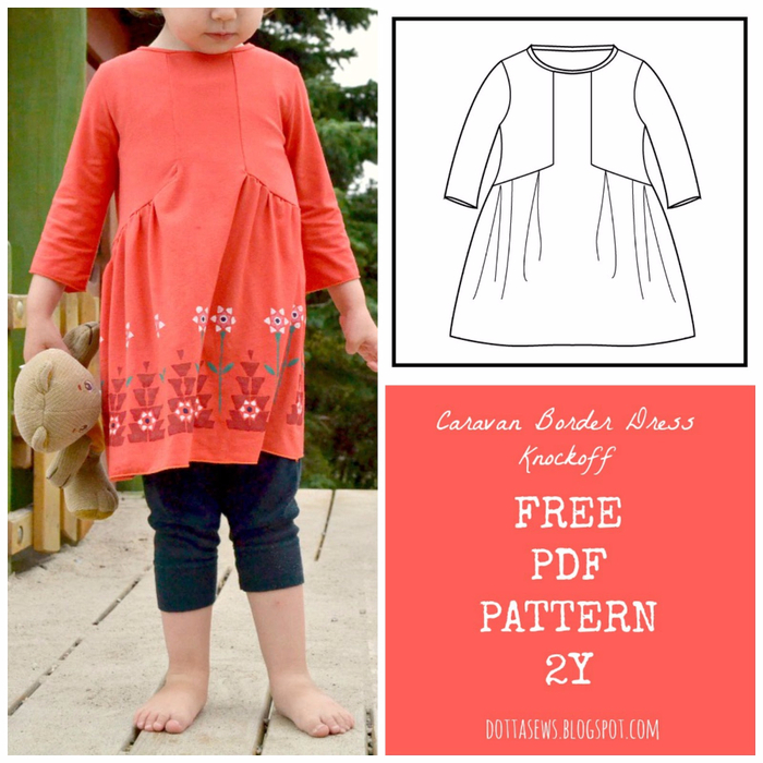 Caravan Boder Dress PDF pattern (350x350, 393Kb)