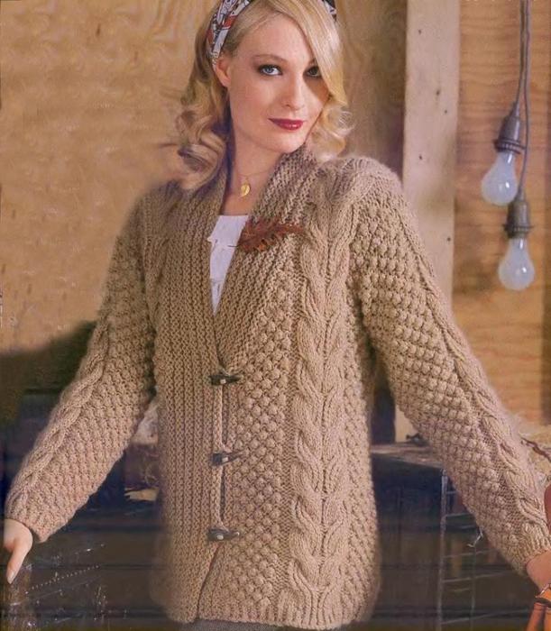 Вязание на спицах для женщин жакеты и на пуговицах