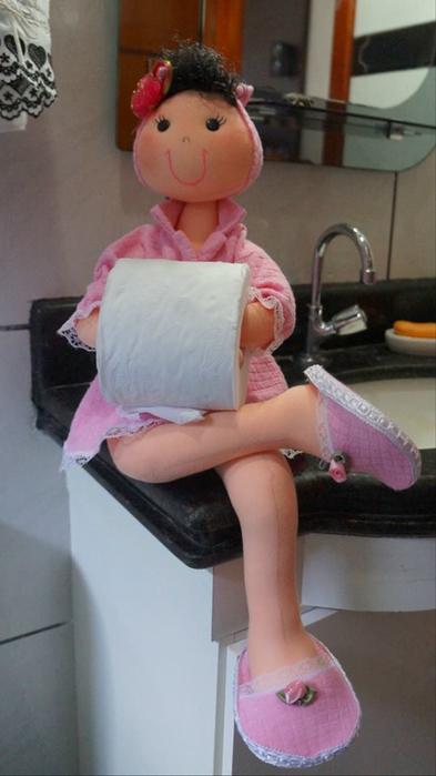 Кукла держатель для туалетной бумаги своими руками