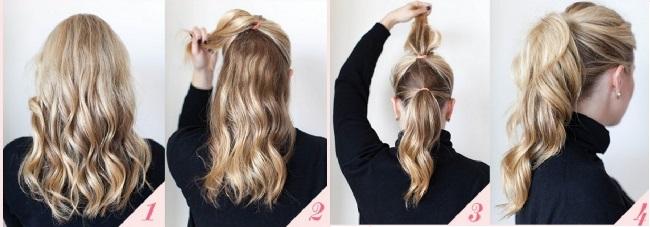 прическа из полудлинный волос (650x227, 145Kb)