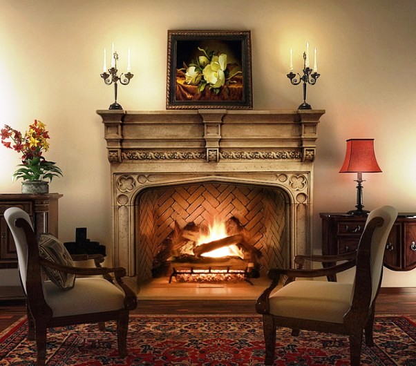 камины /3085196_tudorlivingroomfurniturewithfireplace (602x530, 91Kb)