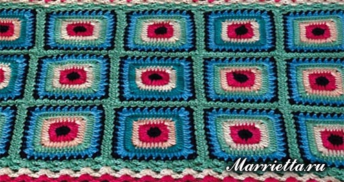 Бабушкин квадрат крючком для вязания коврика (2) (500x264, 232Kb)