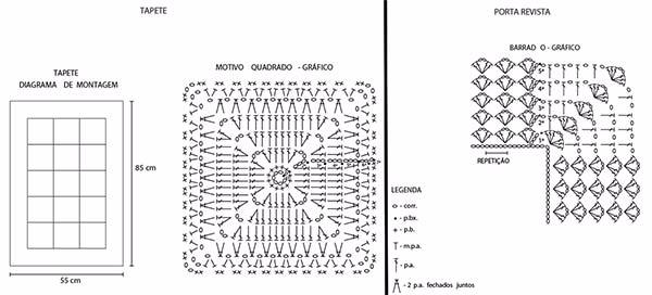 Бабушкин квадрат крючком для вязания коврика (4) (600x272, 109Kb)