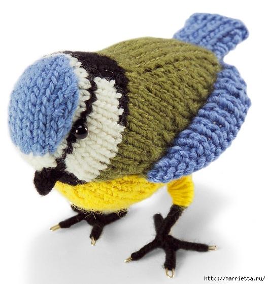 Вяжем спицами птичку СИНИЧКУ. Описание (528x561, 173Kb)
