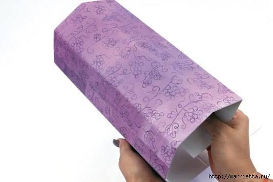 ПОДАРОЧНАЯ ВИННАЯ КОРОБКА. Виноград из бумаги (7) (533x355, 54Kb)