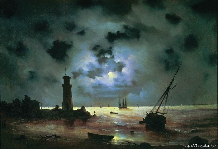 3925073_Aivazovsky__Sea_coast_at_night_Near_th (700x481, 200Kb)