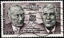 2.5.4.49 1х33 Аденауер-ДеГолль 25 лет договора о сотрудничестве между Францией и Германией (207x124, 20Kb)