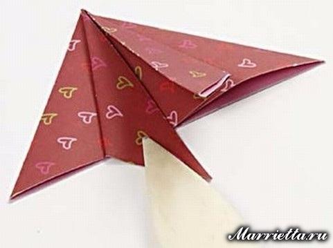 Новогодняя открытка с елочкой в технике оригами (4) (481x359, 105Kb)