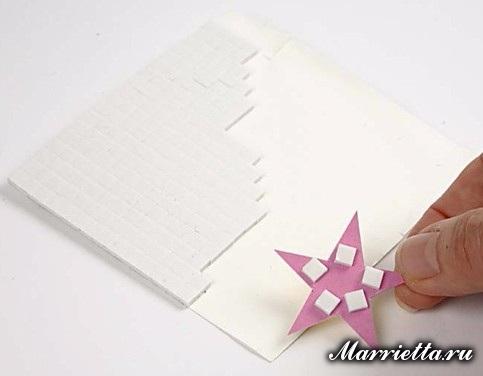 Новогодняя открытка с елочкой в технике оригами (8) (483x376, 81Kb)