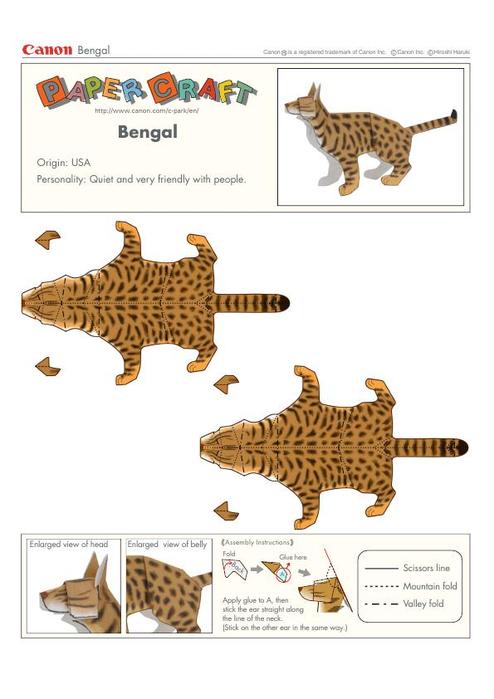 Как сделать из бумаги макет животных