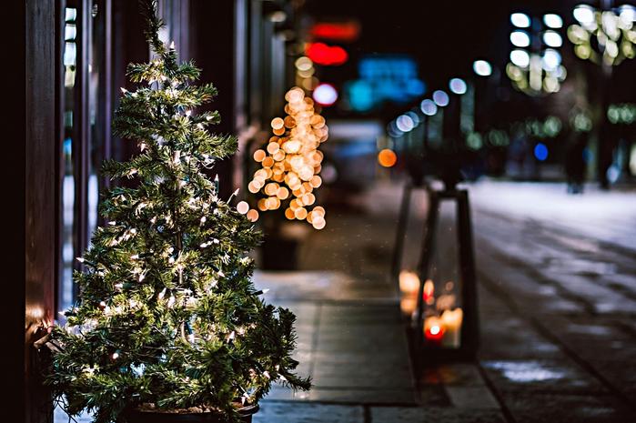 Новый год в больших городах (25 фото)