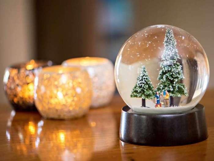Рождественские шары со снегом своими руками