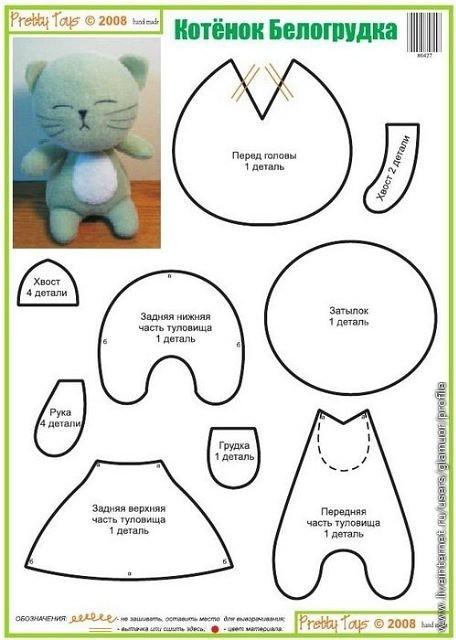 Игрушки из лоскутков схемы