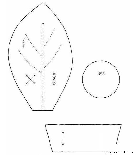 ПОДСОЛНУХИ из ткани (3) (514x591, 55Kb)