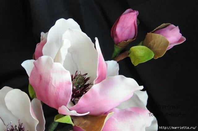 Цветы МАГНОЛИИ из сахарной мастики или холодного фарфора (15) (640x425, 100Kb)