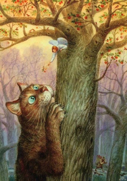 коты в искусстве Владимир Румянцев петербургские коты 5 (493x700, 413Kb)