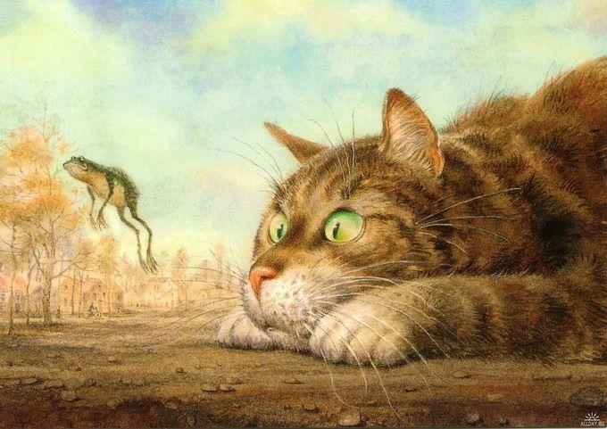 коты в искусстве Владимир Румянцев петербургские коты 10 (680x481, 278Kb)