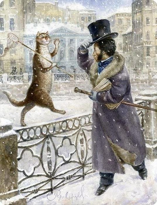 коты в искусстве Владимир Румянцев петербургские коты 17 (537x700, 396Kb)