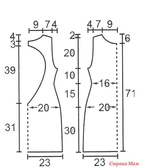 Сшить платье с открытой спиной своими руками без выкройки 35