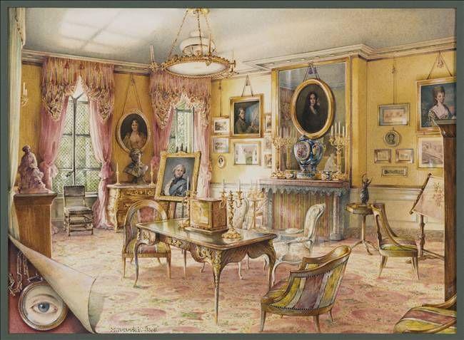 Дизайн интерьера. Романтика 19-го века. Акварель (1) (650x477, 509Kb)