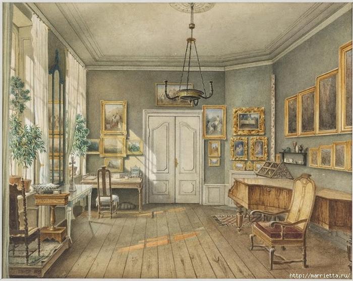 Дизайн интерьера. Романтика 19-го века. Акварель (3) (700x557, 313Kb)