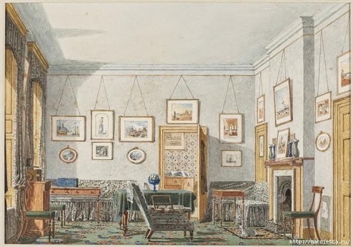 Дизайн интерьера. Романтика 19-го века. Акварель (10) (700x488, 270Kb)