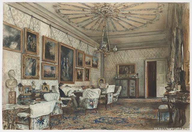 Дизайн интерьера. Романтика 19-го века. Акварель (18) (640x443, 251Kb)