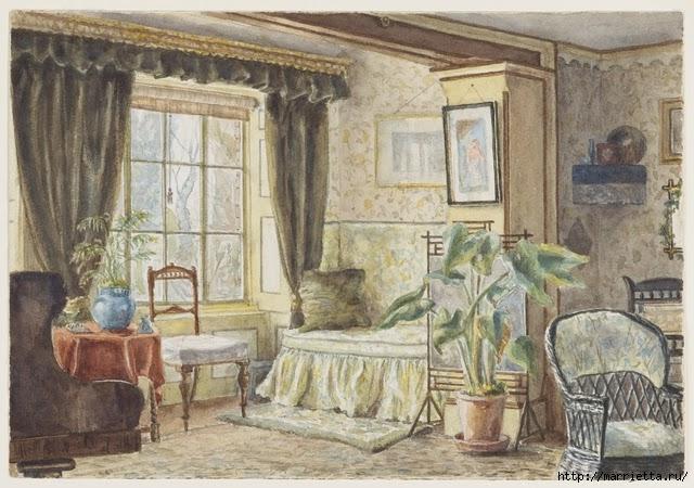 Дизайн интерьера. Романтика 19-го века. Акварель (20) (640x450, 224Kb)