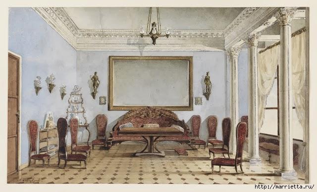 Дизайн интерьера. Романтика 19-го века. Акварель (24) (640x387, 165Kb)
