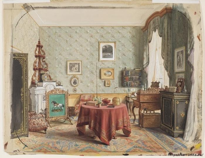 Дизайн интерьера. Романтика 19-го века. Акварель (30) (700x537, 292Kb)