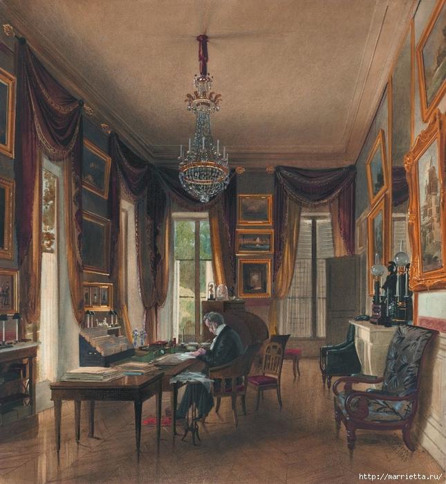 Дизайн интерьера. Романтика 19-го века. Акварель (34) (645x700, 390Kb)