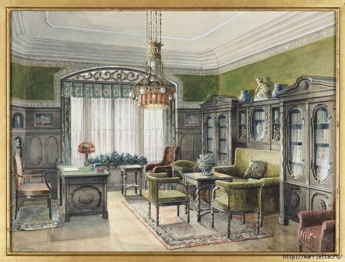 Дизайн интерьера. Романтика 19-го века. Акварель (37) (700x532, 304Kb)