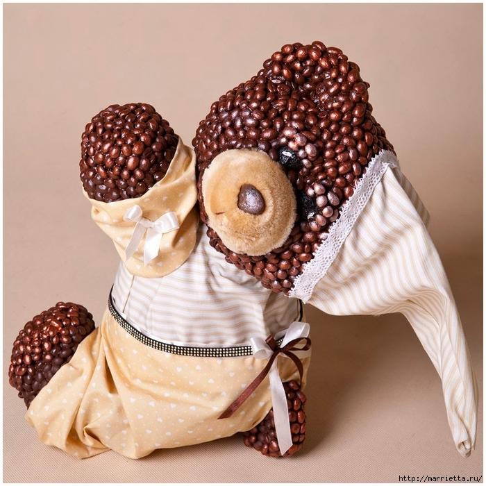 Osos de papel maché y granos de café (2) (700x700, 336KB)